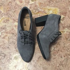 Clarks gray shoes